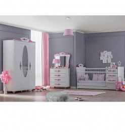 Lit bébé 80x180 + armoire +...