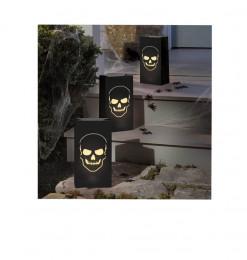 6 lanternes en papier noir...