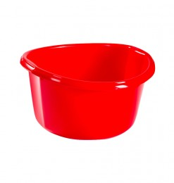 Bassine plastique rouge