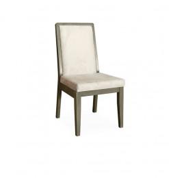 Chaise en bois gris et...