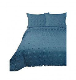 Couvre-lit bleu