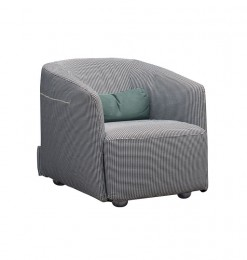 Fauteuil individuel gris clair