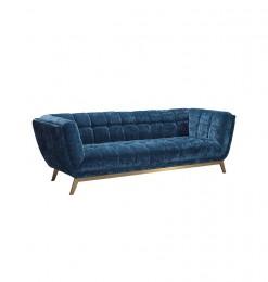Salon en tissu bleu