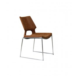 Chaise assise marron