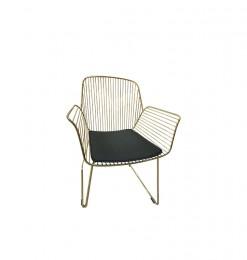 Chaise en métal or