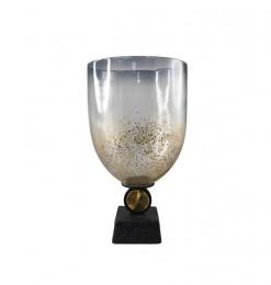 Vase or gravier sur base noire