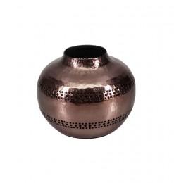 Vase en métal bronze fumé