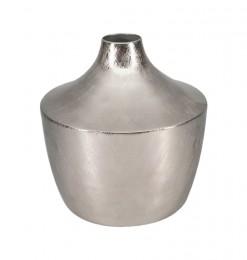 Vase en métal argent