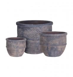 Set de 3 cache pot