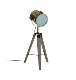 Lampe métal et bois