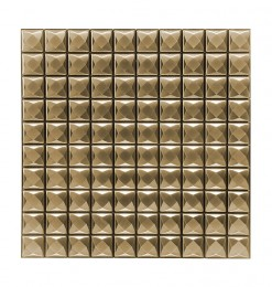 Sticker petit carré or (x6)