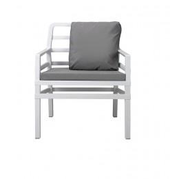 Fauteuil blanc gris
