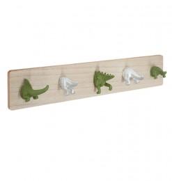 Patères x5 dinosaure
