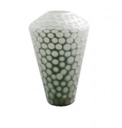 Vase en verre diamant blanc
