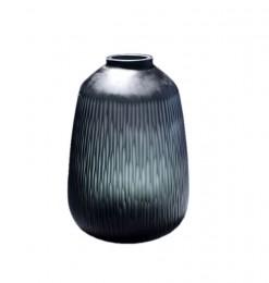 Vase strié gis foncé