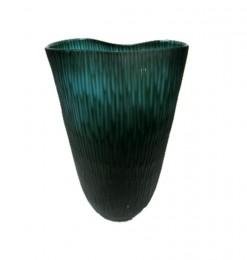 Vase strié d'eau vert
