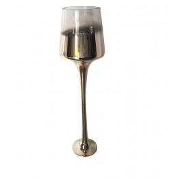Vase sur pied en verre