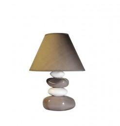 Lampe céramique galet