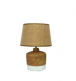 Lampe céramique cordage