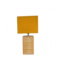 Lampe céramique jaune