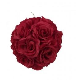 Boule de roses rouges