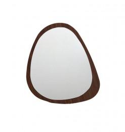 Miroir oval en bois