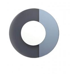 Miroir rond bleu gris