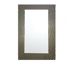 Miroir rectangle noir et or