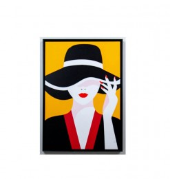 Tableau femme avec chapeau