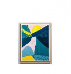 Tableau paysage multicolore