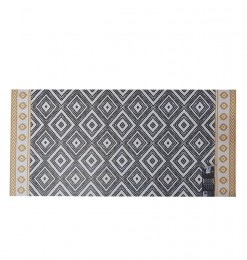 Tapis  gris-moutarde