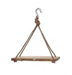 Etagère avec corde en bois
