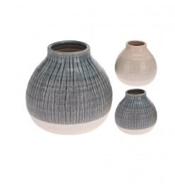 Vase céramique rayures