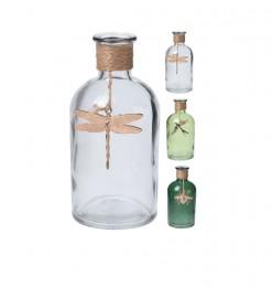 Vase en verre bouteille