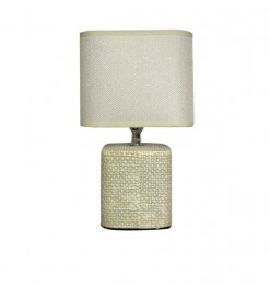 Lampe de table style tissus