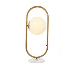 Lampe de table boule blanche
