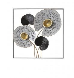 Déco murale métal motif fleur