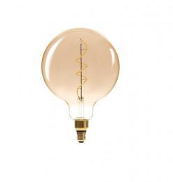 Ampoule led forme globe ambrée