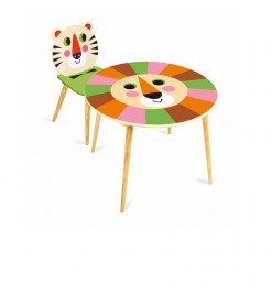Table + 1 chaise jungle enfant