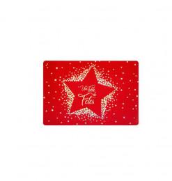Set de table étoile rouge (x6)