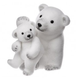 Maman et bébé ours 28cm