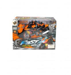 Moto de course + motard R/C