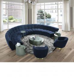 Salon arrondi + fauteuils +...