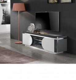 Meuble TV Lorenzo  gris et...