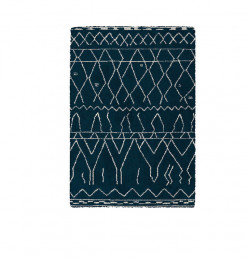 Tapis 160x230cm bleu et blanc