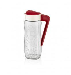 Pichet rouge 1600ml en verre