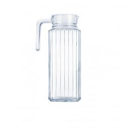 Carafe en verre transparent...