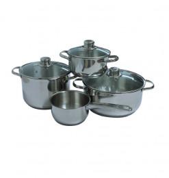 Coffret casseroles en inox...