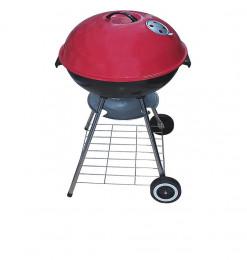 Barbecue à charbon rouge noir