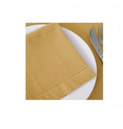 Serviette de table jaune...